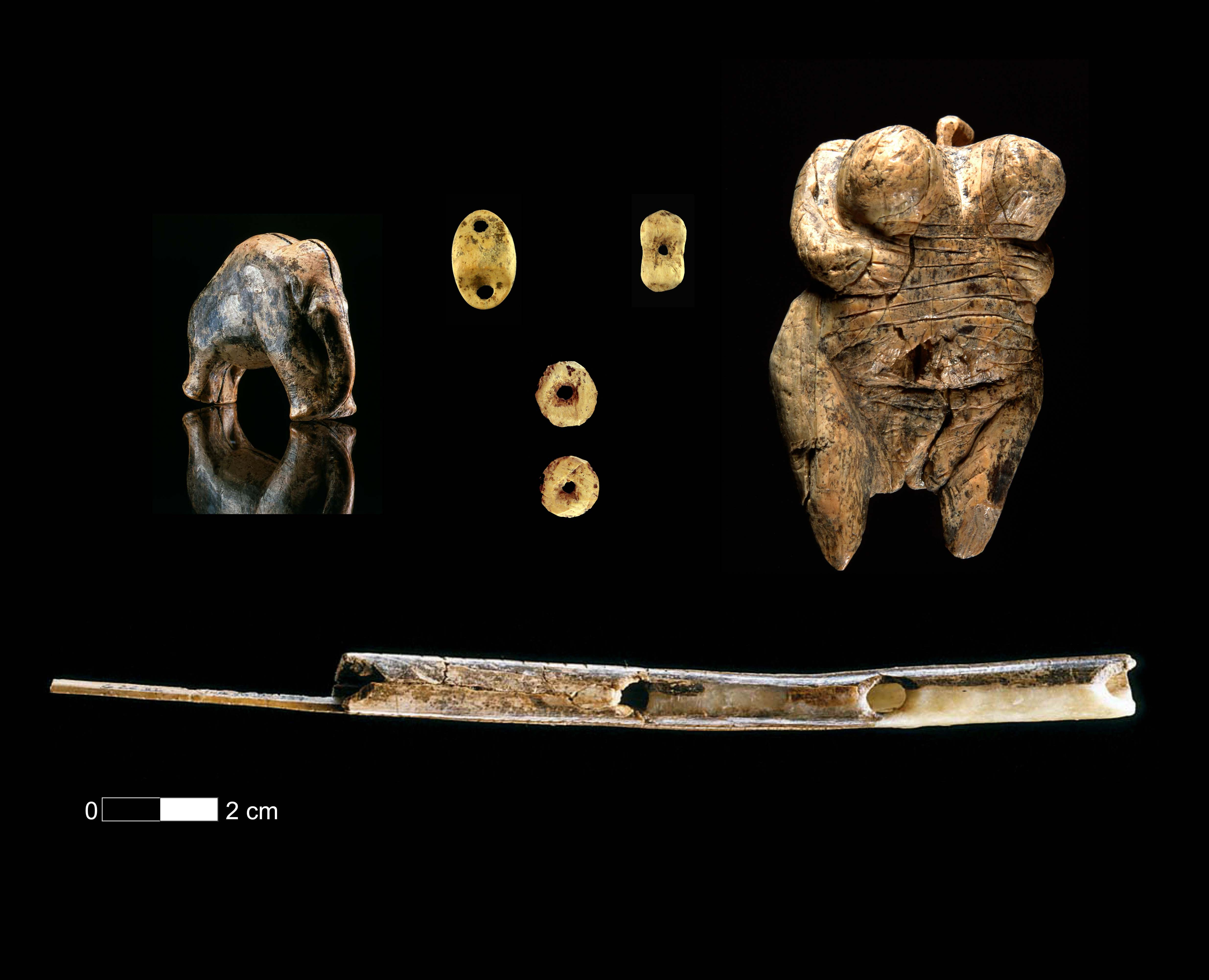 Art, musical instruments and personal ornaments are found at several sites of the Swabian Jura in southwestern Germany.
